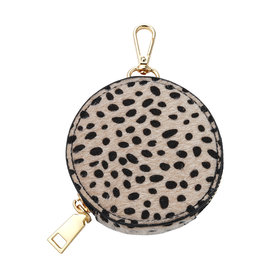 With love Dotted pouch - beige 9 x 2 cm