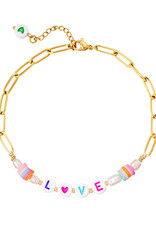 With love Anklet Love