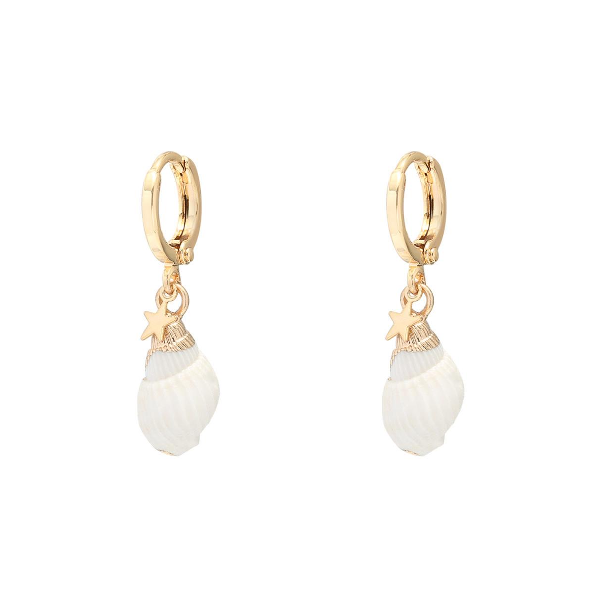 With love Earrings shells stars