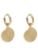With love Earrings twirl gold