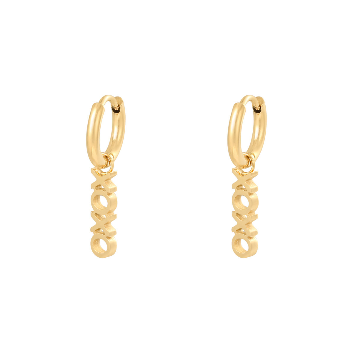 With love Earrings XOXO gold