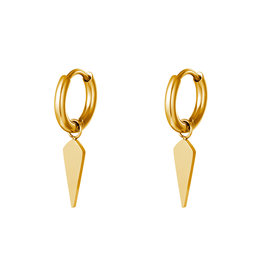With love Earrings cone small