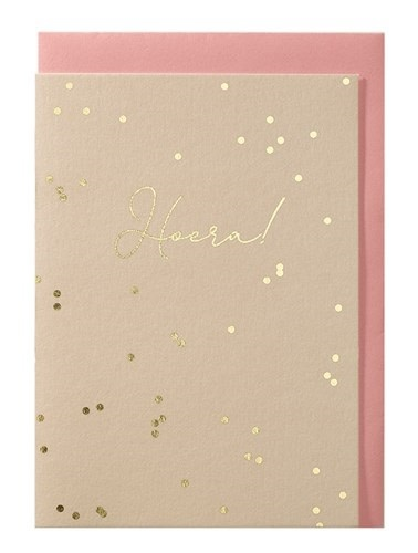 Papette Papette greeting card + enveloppe 'Hoera!'