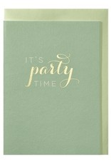 Papette Papette greeting card + enveloppe 'It's party time'