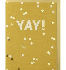 Papette Papette greeting card + enveloppe 'Yay!'