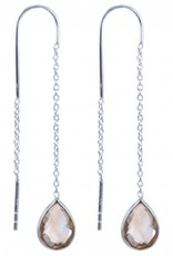 Treasure Silver earrings citrine