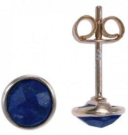 Treasure Silver earrings GP facet lapis lazuli