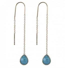 Treasure Silver earrings GP larimar