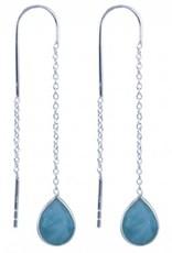 Treasure Silver earrings larimar
