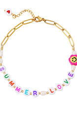 With love Anklet Summer love
