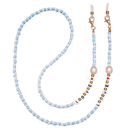 With love Sunglasses cord LOVE - light blue 77 cm