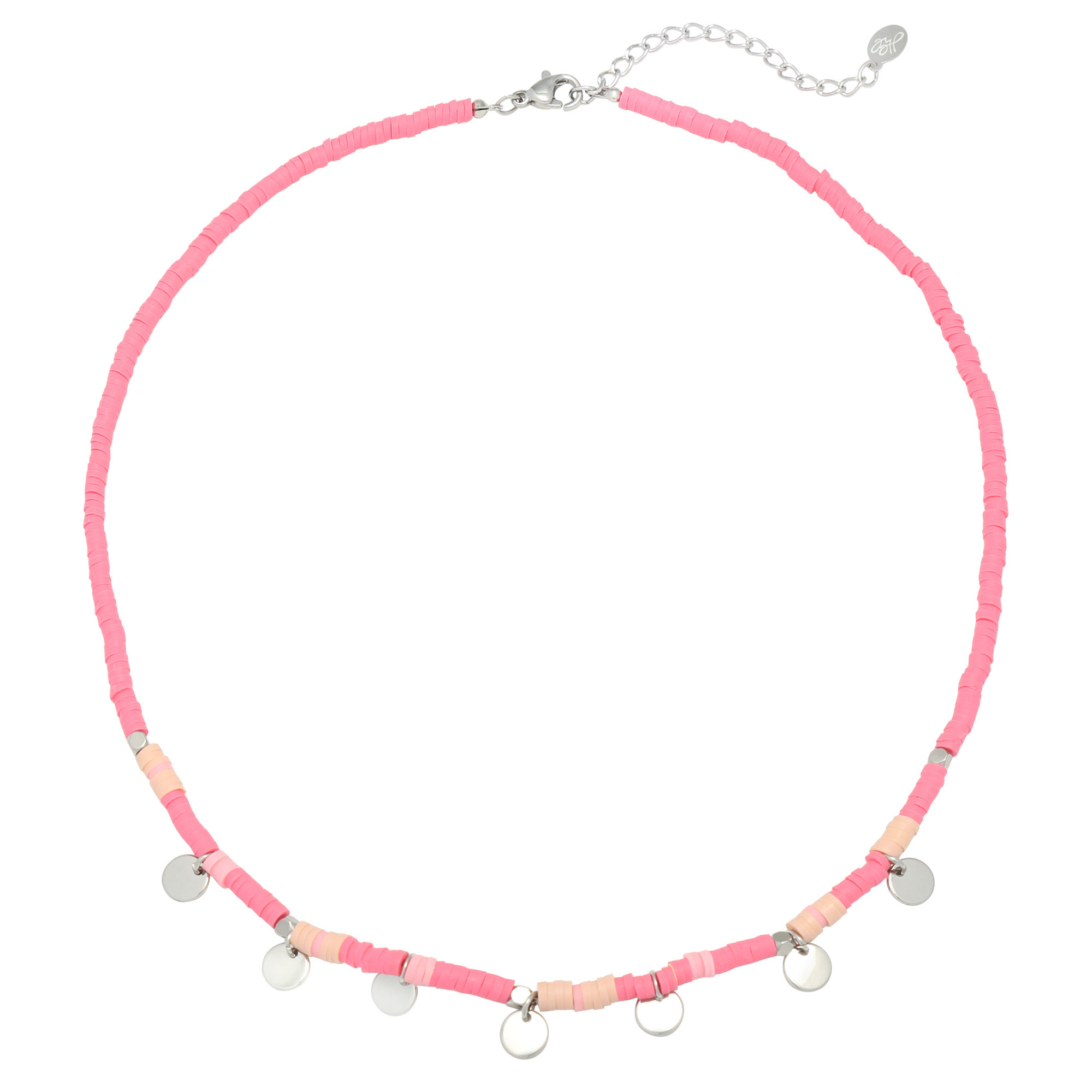 With love Necklace surf with me - Pink silver