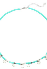 With love Necklace surf with me - Aqua silver