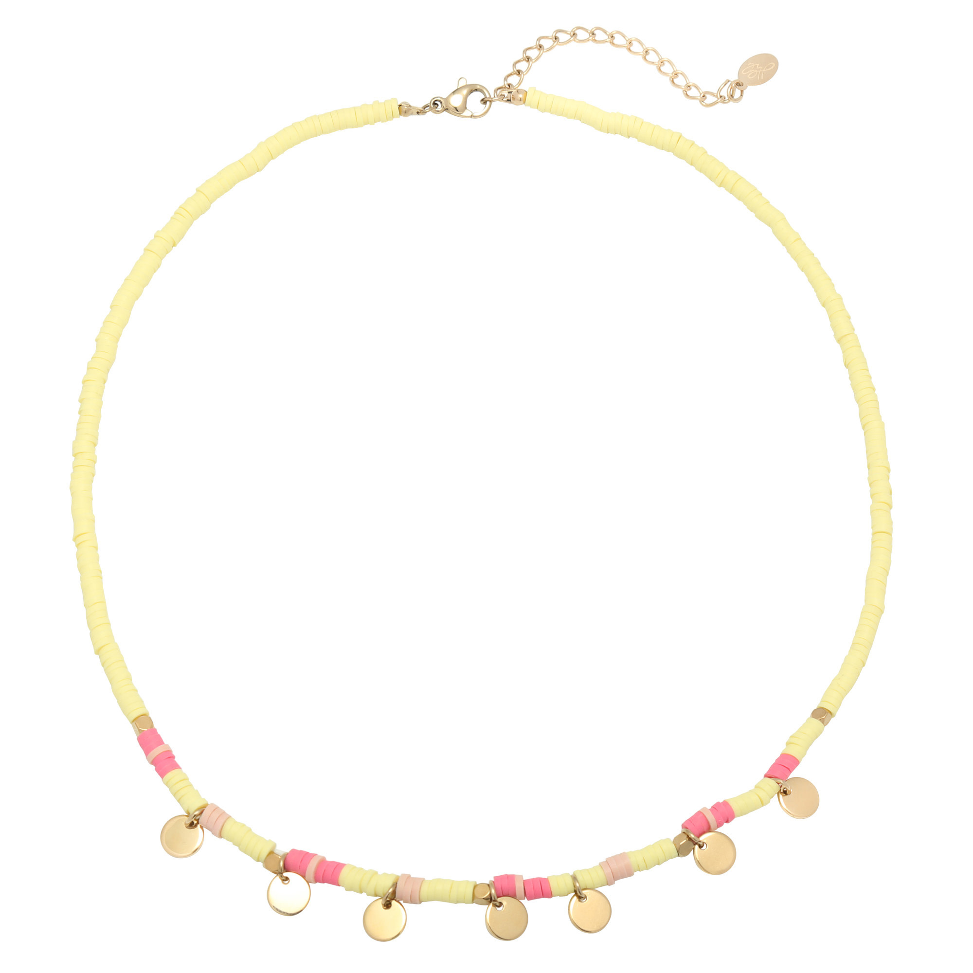 With love Necklace surf with me - Yellow gold