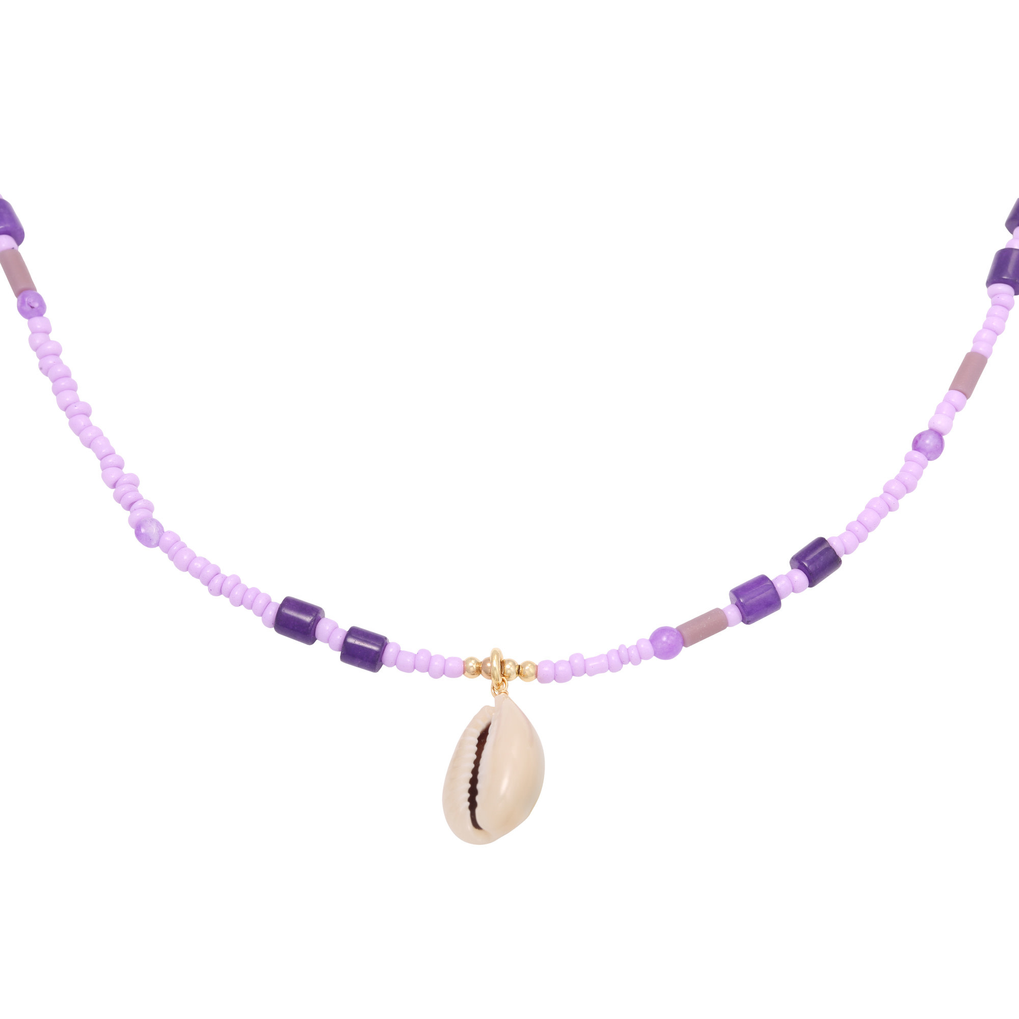 With love Necklace at the beach - Purple