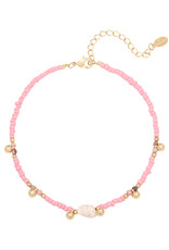 With love Anklet shell pink