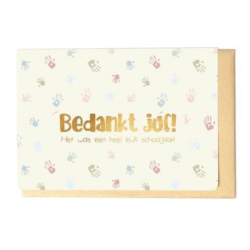 Enfant Terrible Enfant Terrible card  + enveloppe 'Bedankt juf, het was een heel leuk schooljaar!'