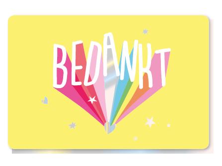Enfant Terrible Enfant Terrible card  + enveloppe 'Bedankt'