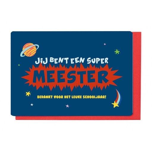 Enfant Terrible Enfant Terrible card  + enveloppe 'Jij bent een super meester'