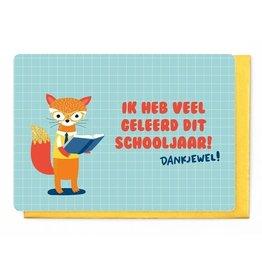 Enfant Terrible Enfant Terrible card  + enveloppe 'Ik heb veel geleerd dit schooljaar, dankjewel!'