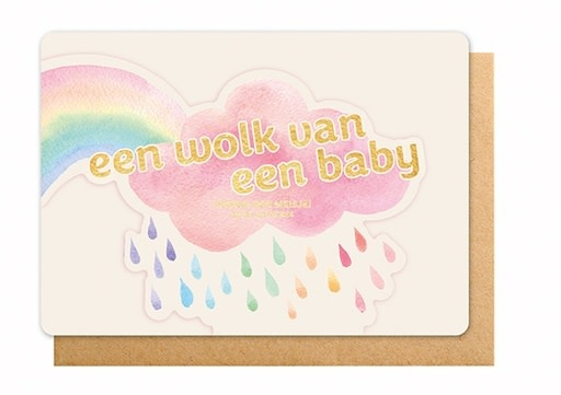 Enfant Terrible Enfant Terrible card + enveloppe 'Een wolk van een baby'