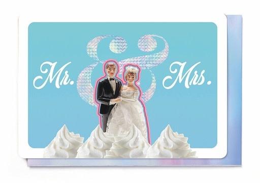 Enfant Terrible Enfant Terrible card + enveloppe 'Mr. & Mrs.'