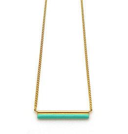 Nadja Carlotti Gold plated necklace Stella - Ocean