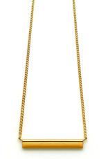 Nadja Carlotti Gold plated necklace étincelle mustard