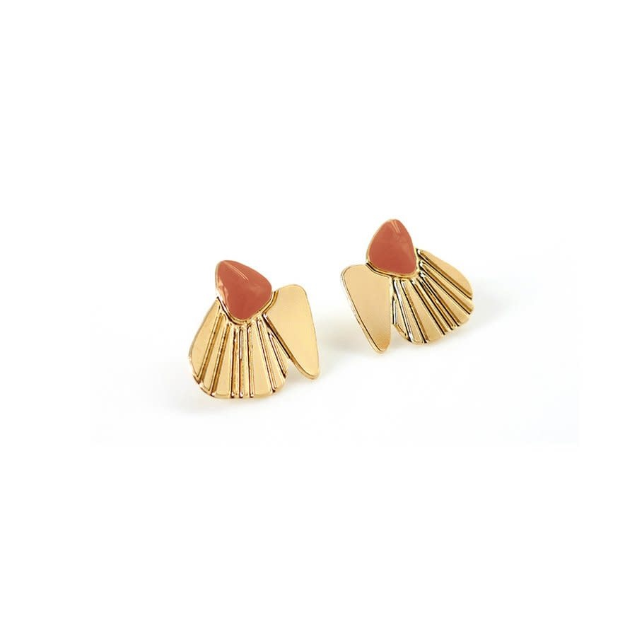 Nadja Carlotti Silver earrings Shell - Charbon