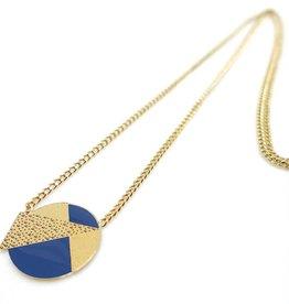 Nadja Carlotti Silver necklace Lizzy - Blue 38 cm + 3 cm