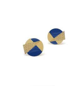 Nadja Carlotti Silver earrings Lizzy - Blue