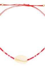 With love Bracelet kauri miyuki red