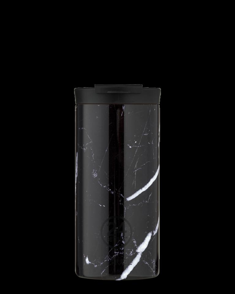 24Bottles 24Bottles travel tumbler 600 ml. Black marble
