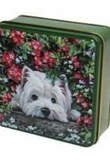 Grandma Wild's Embossed hiding westie dogs tin 100 gr.