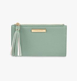 Katie Loxton Sophia tassel fold out purse  - Mint green - 11 x 19 cm
