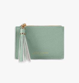 Katie Loxton Sophia tassel coin card purse - Mint green - 8.5 x 13.5 cm