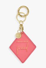 Katie Loxton Katie Loxton Chain keyring - Fabulous friend - Pink 6 x 6 cm