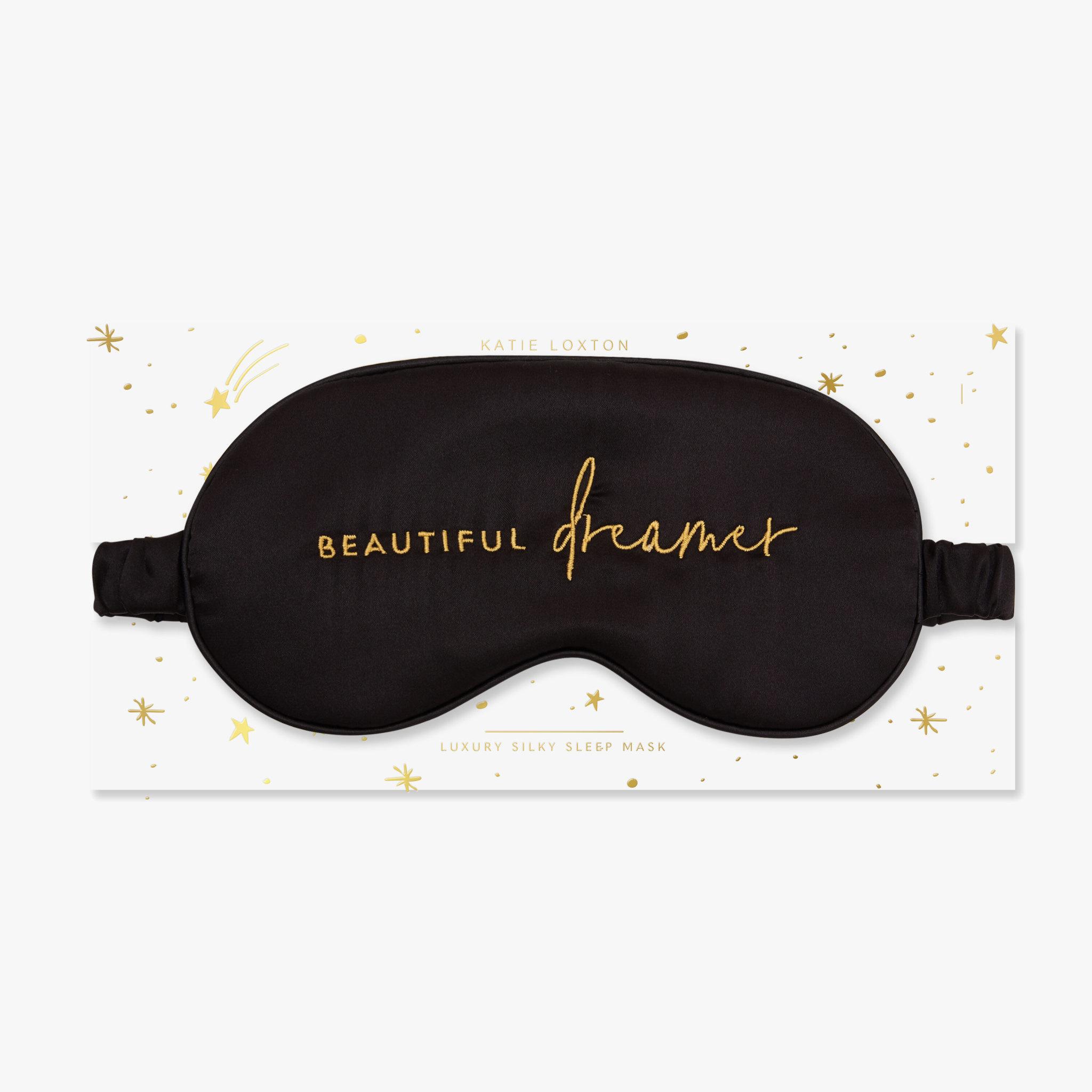 Katie Loxton Katie Loxton Satin eye mask - Beautiful dreamer - Black 11 x 21.5 cm