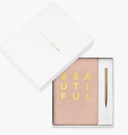 Katie Loxton Katie Loxton boxed A5 notebook & pen set - Beautiful - Pink 21.2 x 14.5 cm