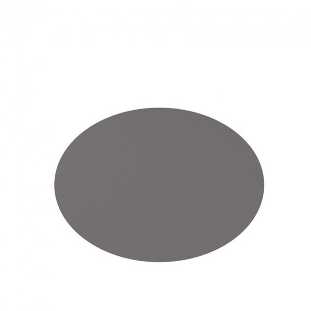 Placemat grey leather look 33 x 45 cm