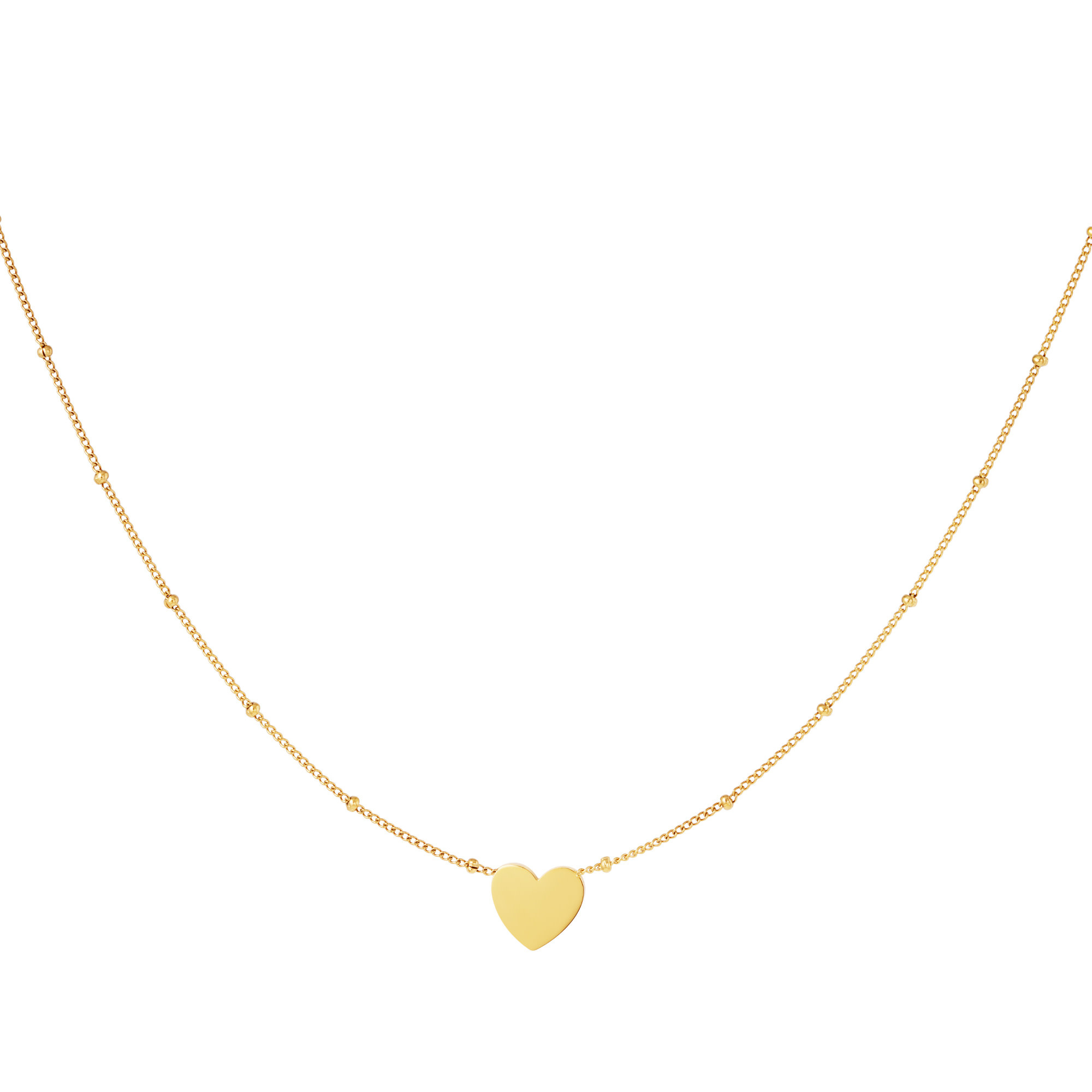 With love Necklace dotted heart gold