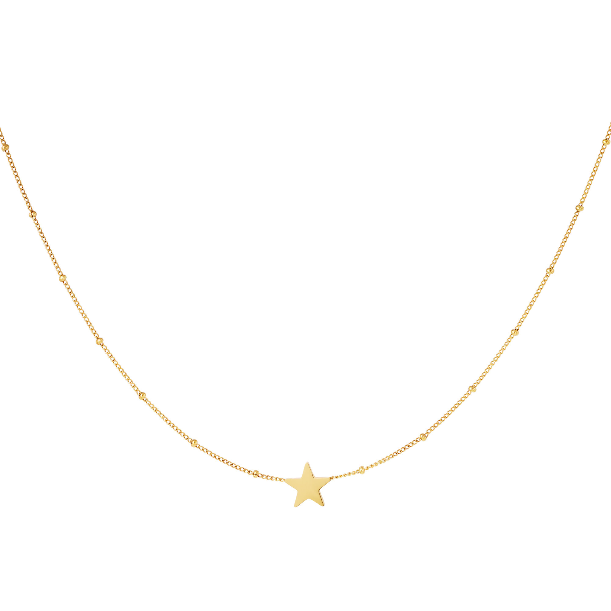 With love Necklace dotted star gold