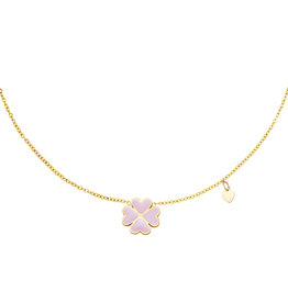 With love Necklace good luck lilac gold