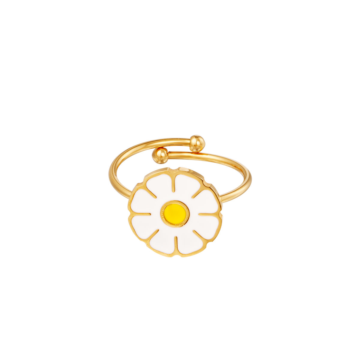 With love Ring daisy white