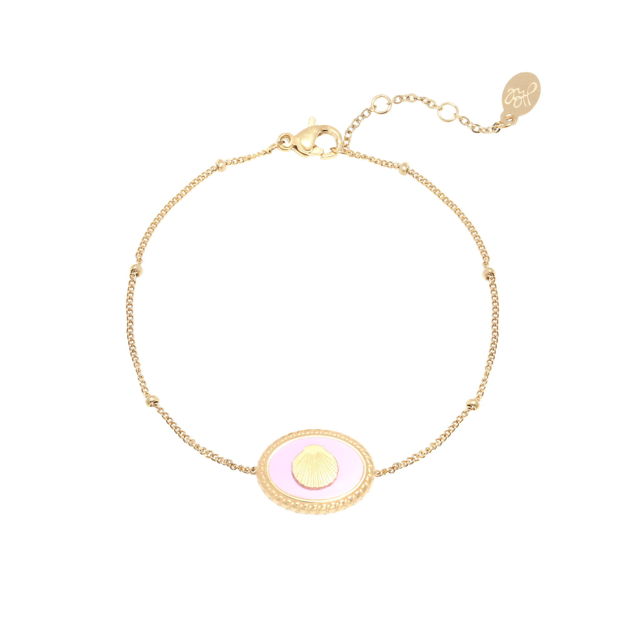 With love Bracelet charming shell pink