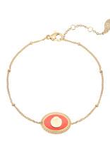With love Bracelet charming shell orange