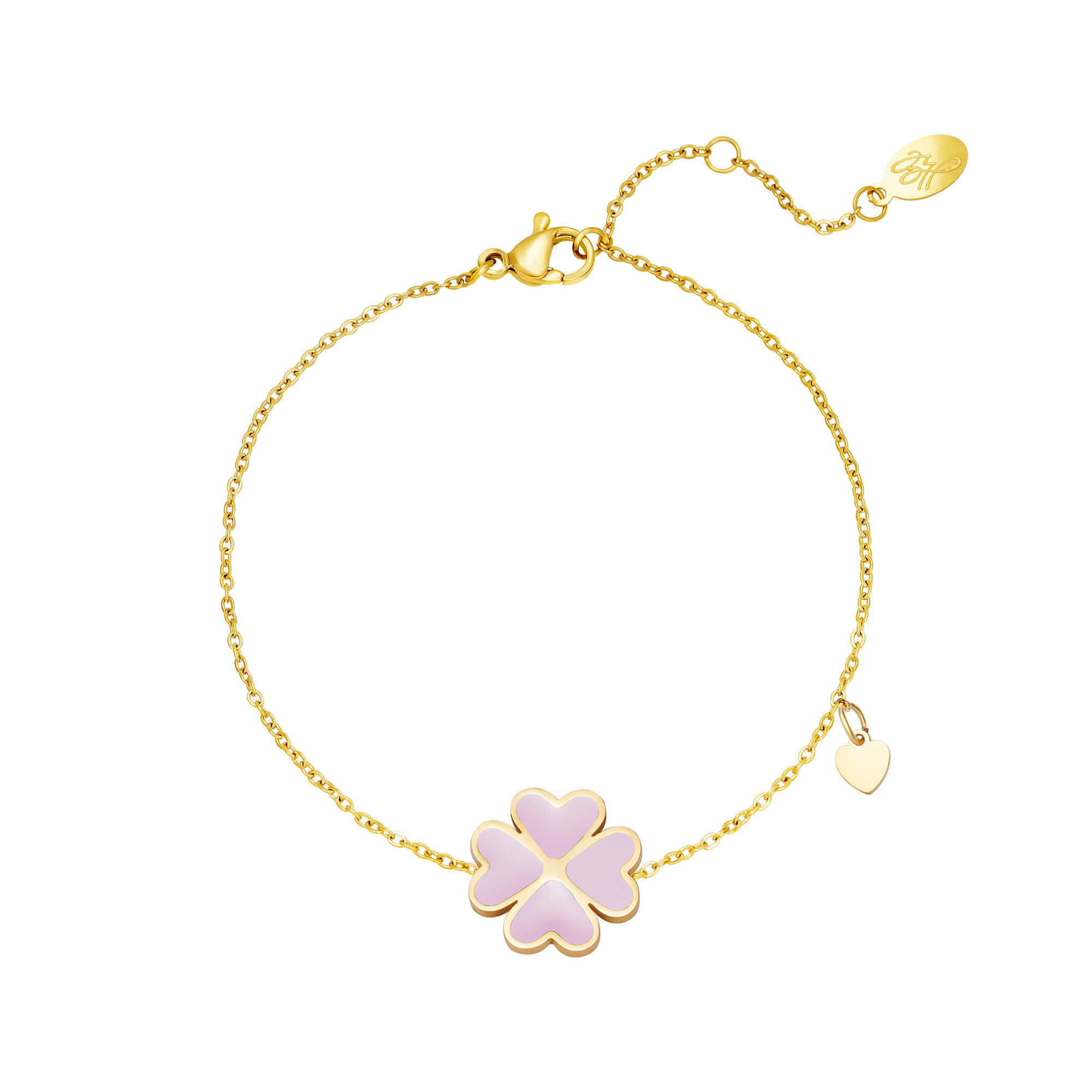 With love Bracelet good luck lilac