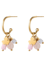 With love Earrings good luck pink