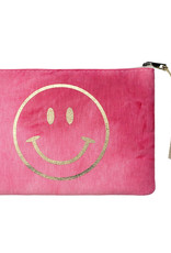 With love Tie dye smiley pouch - red  18cm x 12cm