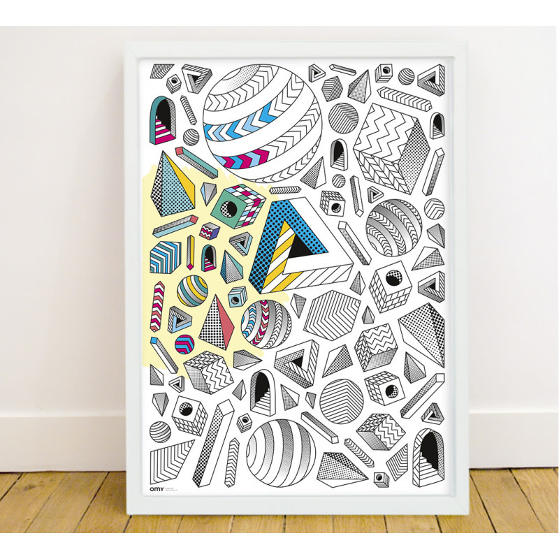 OMY Omy coloring poster 100 x 70 Illusions
